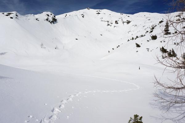 Herrliches Aufstiegsgelände auf den Grabnerstein