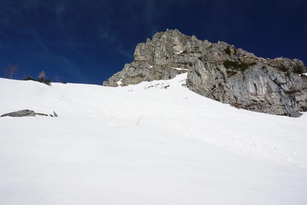 Steilhangquerung westlich unter der Admonter Warte