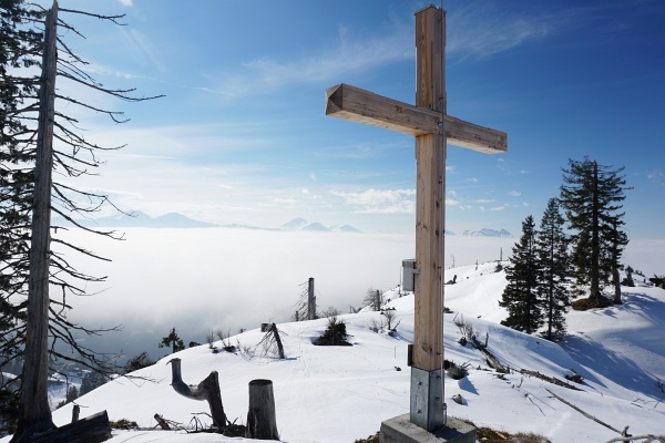 Gipfelkreuz am Hohen Raschberg