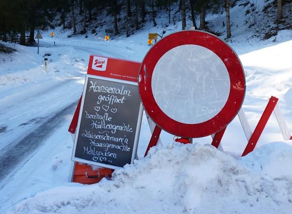 Sperre der Sölkpaßstraße - bis zur Hansenalm (und weiter) ist die Zufahrt aber bereits möglich
