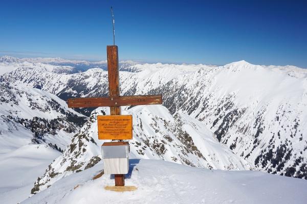 Beim Gipfelkreuz am Kammkarlspitz