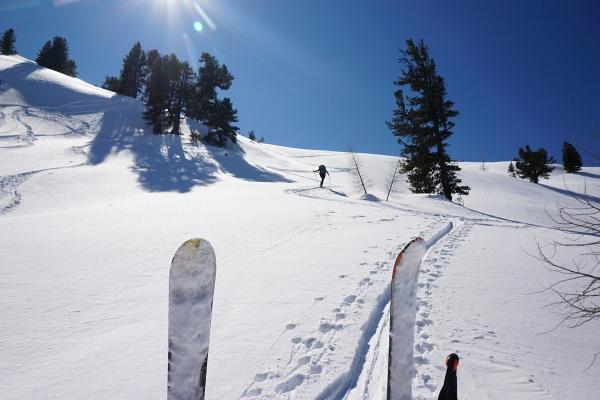Wieder einmal eine Zwangspause, um die Skitouren-Felle von lästigem Ballast zu befreien