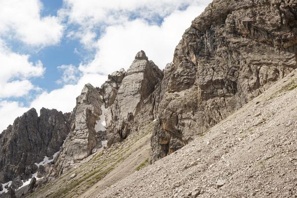 Abstieg zunächst zurück am Anstiegsweg bis unterhalb des Kühbodentörls