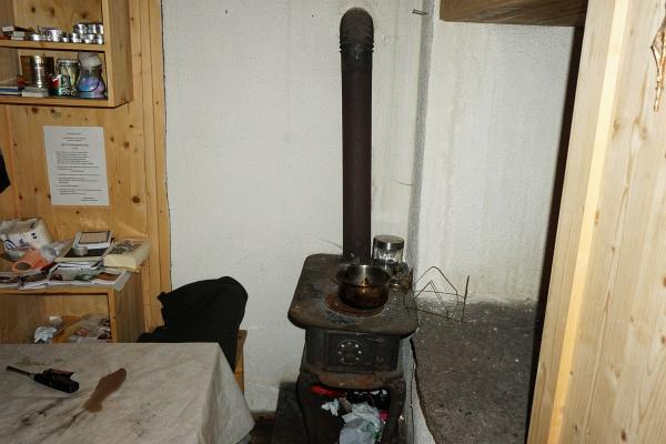 Der Ofen in der Linderhütte