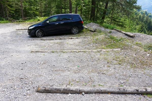 Wenig los am Parkplatz beim Klammbrückl