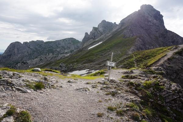 Am Steiglpass - dem höchsten Punkt der Tour