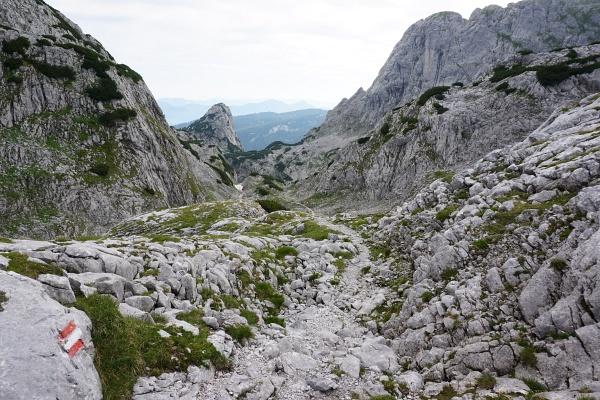"""Abstieg vom Steiglpaß Richtung Norden in """"Winnetou-Gelände"""""""