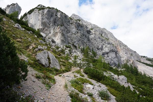 Nach 900 Höhenmetern endlich interessantes Gelände