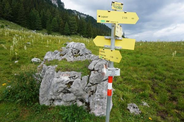 Beim Gspitzten Stein entscheiden wir uns für eine Tour-Verlängerung über den Neuburgsattel