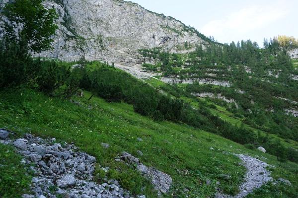 Aufstieg von Klachau / Kulm zunächst am markierten Wanderweg auf den Grimming