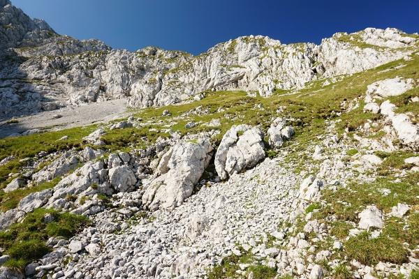 Unterhalb der Steinfeldspitze