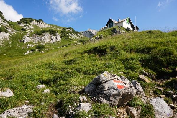 Vom ersten Anblick bis zum Erreichen des Admonter Hauses sind es noch fast 400 Höhenmeter.