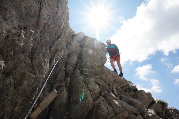 Abstieg zum Steigbuch (links unten)