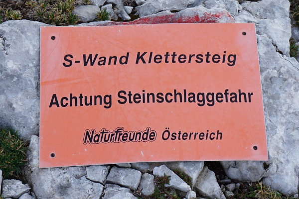 Steinschlaggefahr am Südwandband-Klettersteig auf den Großen Buchstein