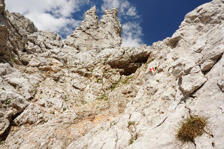 Abstieg am Buchstein-Normalweg