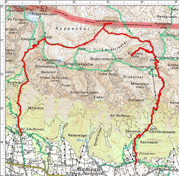 Wanderroute Landfriedstein-Eselstein