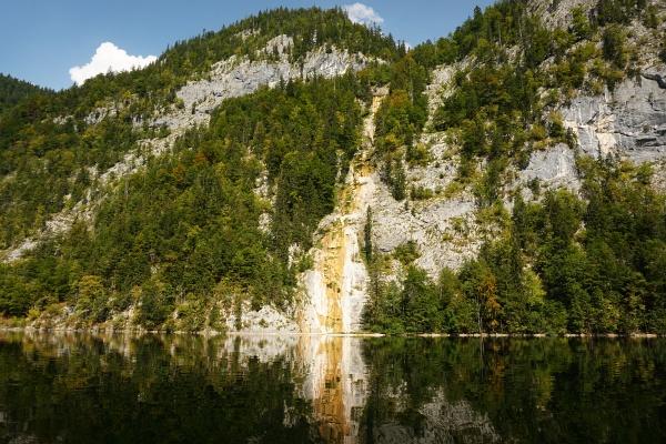 Eine recht trockene Angelegenheit - der Hinterbach-Wasserfall.