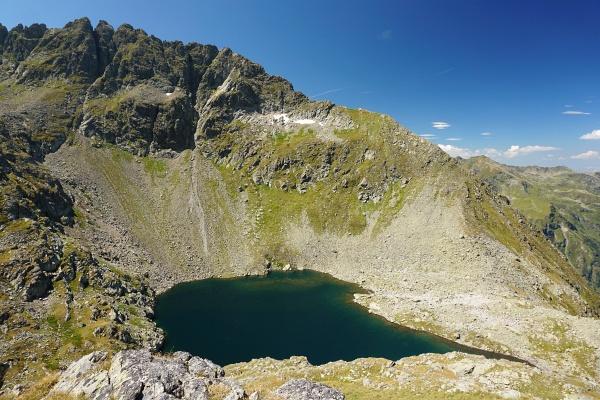 Der Rauhenbergsee - einer der wenigen benannten Seen im Klafferkessel