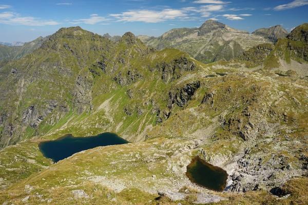 Der Unterer Klaffersee (links) und ein namenloser kleiner See (rechts)