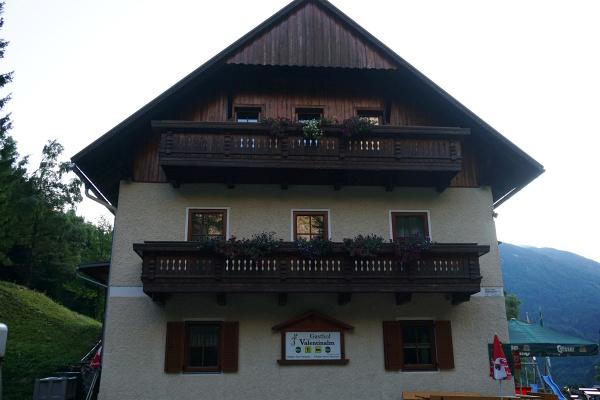 Start beim Gasthof Valentinalm