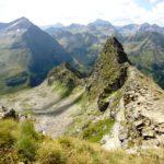 Ausblick von der Wildlochhöhe über Himmrelreich und Schneider hinweg zum Waldhorn und Kieseck.