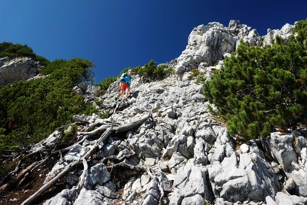 Abstieg am Normalweg über den Ostgrat.