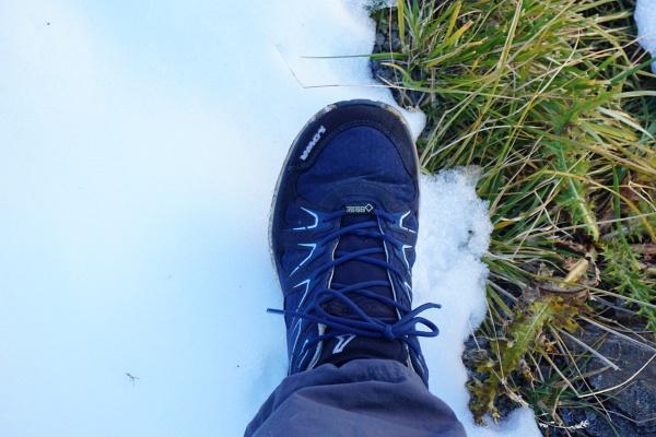 Preis für meine Vergesslichkeit - untaugliches Schuhwerk im harten Schnee.