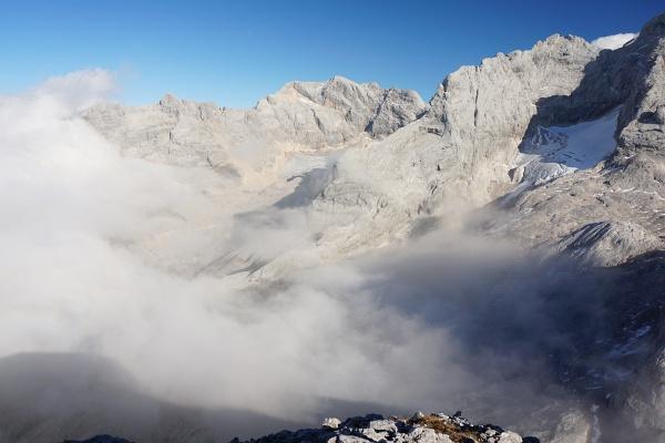 Nebel im Dachsteingebirge