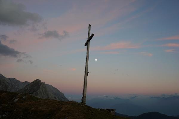 Im Mondlicht von der Eiskarlschneid über den Sulzenhals zurück zum Ausgangspunkt