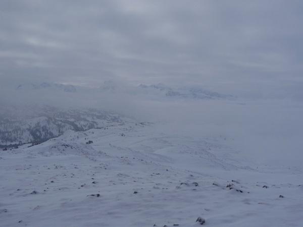Diffuse Sicht am Dachsteingebirge