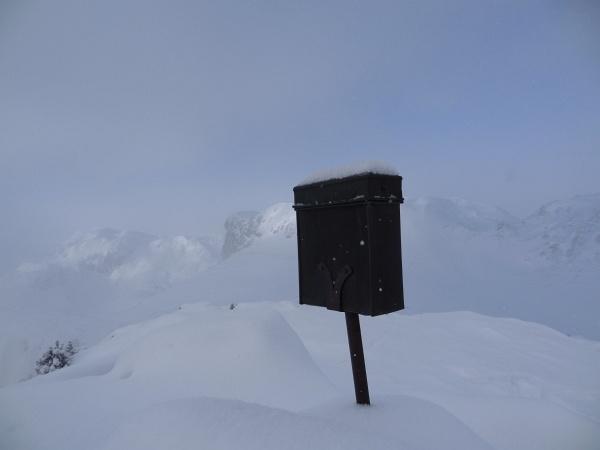 Gipfelbuch auf der Luserwand