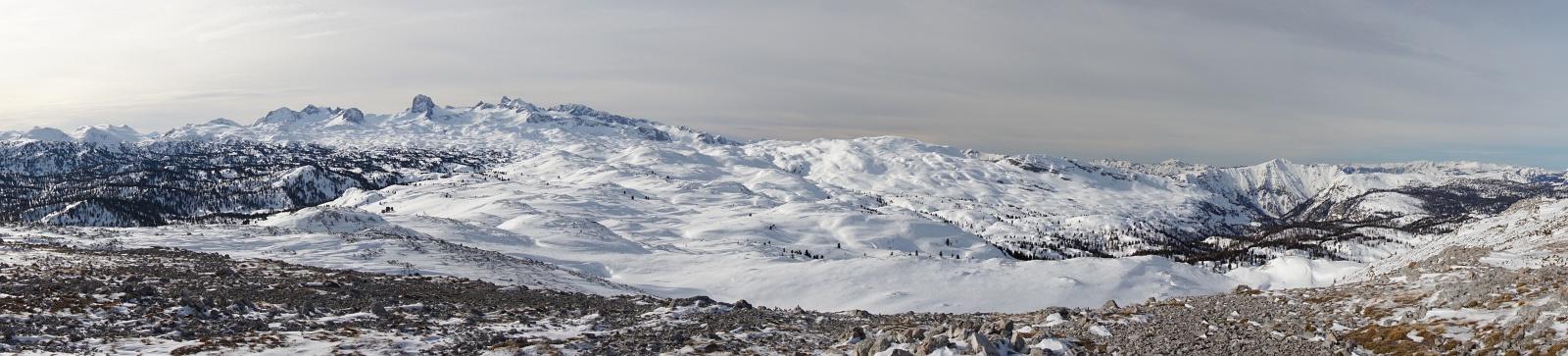 Panoramablick über das Dachsteinplateau