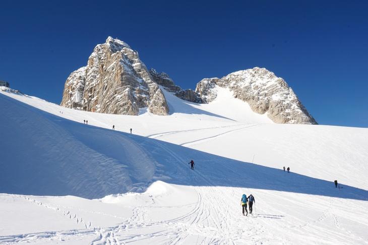 Beste Schneeverhältnisse von oben bis unten über fast 2.000 Höhenmeter