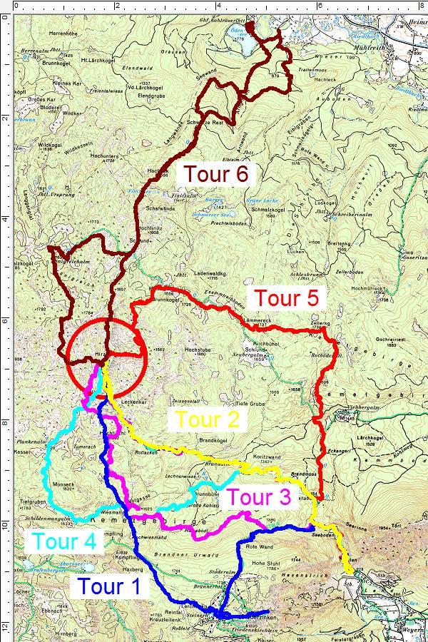 Meine 6 Hirzberg-Skitouren im Jänner/Februar 2019