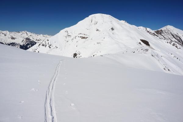 Übergang vom Finsterkopf (rechts unterhalb des Gamskarkogel) zum Throneck