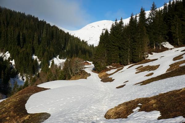Vom Schigebiet aus dem Angertal zur Nesslachhütte