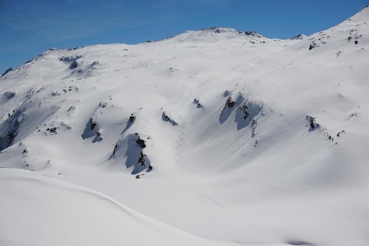 550 Höhenmeter Abfahrt vom Silberpfennig zum Ecklgrubensee
