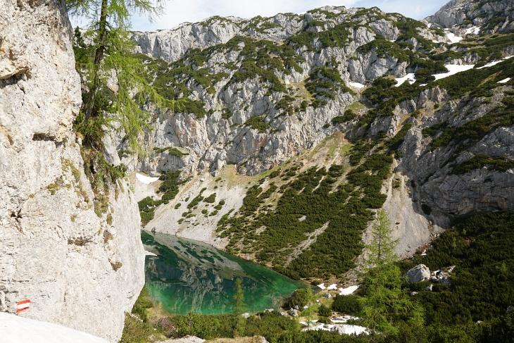 Abstieg in den Felskessel zum Silberkarsee