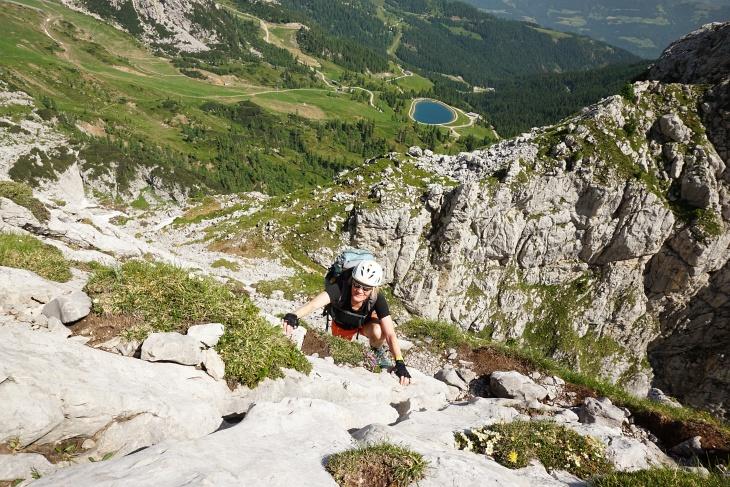 Keine Schwierigkeiten am Contin-Klettersteig