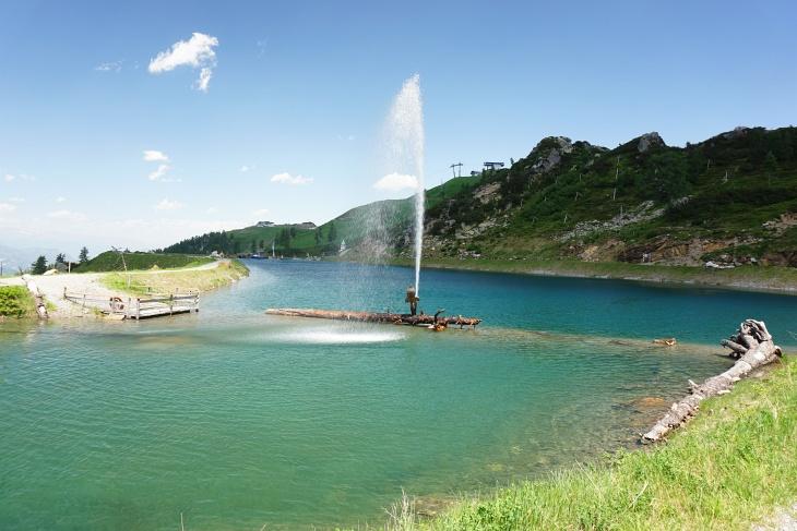 """Unser """"Badesee"""" am Madritschen-Aqua-Trail"""