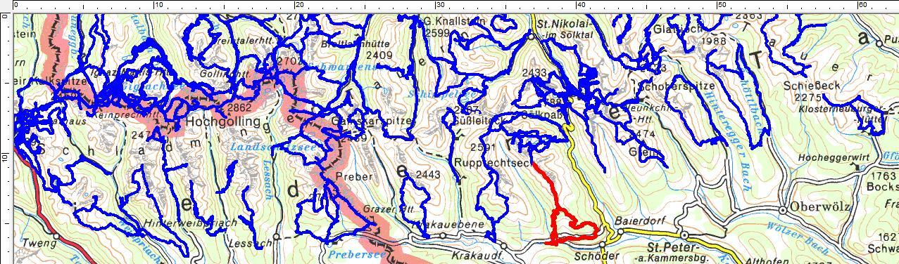Einen Kammerverlauf in den südlichen Niederen Tauern hatte ich bisher noch nicht besucht: Von Schöder auf den Eisenhut