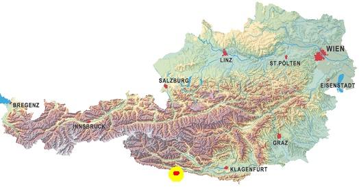 Unser heutiges Wandergebiet im Süden Kärntens, an der Staatgrenze zu Italien.