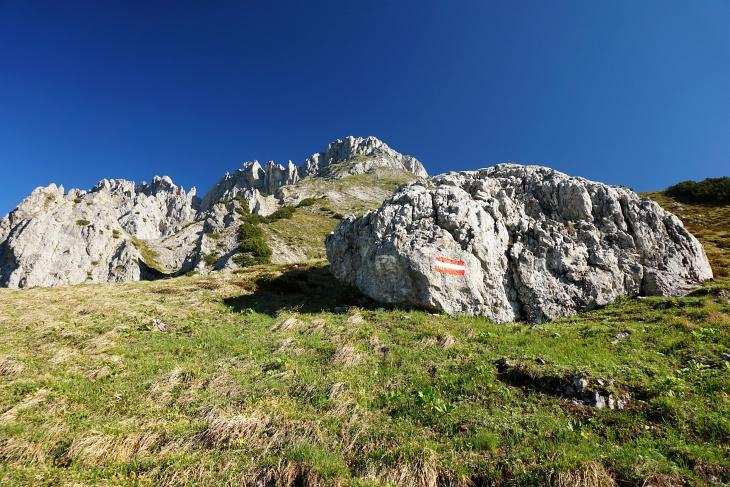 """Ist man erst einmal beim """"Großen Stein"""", ist es nicht mehr weit auf den Gipfel."""