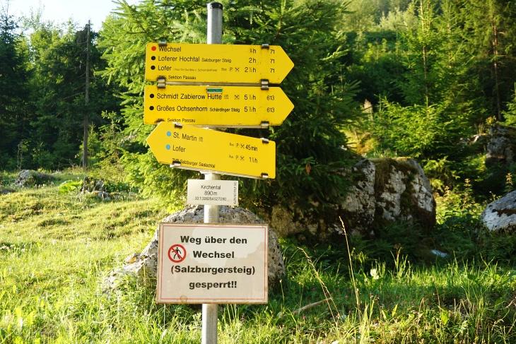 Die Zeitangabe auf das Große Ochsenhorn (5 1/2 Stunden) könnte einer der Gründe sein, weshalb es am Schärdinger Steig nicht überlaufen ist.