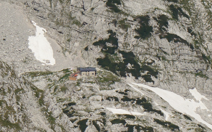 Zoomblick zur Schmidt-Zabierow-Hütte