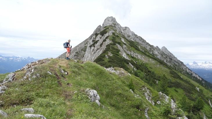 Über das Zirmel von Osten auf den Kammspitz (bzw. von rechts nach links darüber)