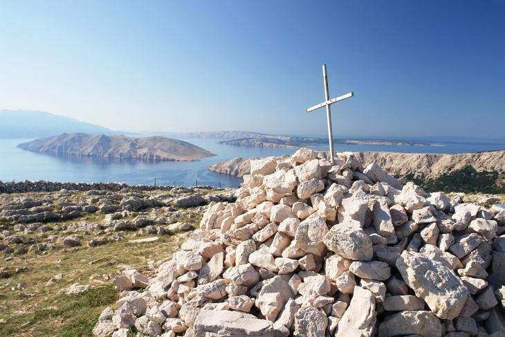 Gipfelkreuz am 461 Meter hohen Hlam