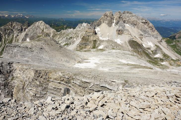 Unterwegs am Felsplateau vom Windischkopf Richtung Faulkogel