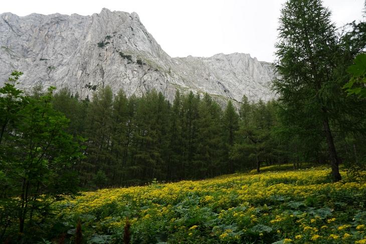 Die über das Hochplateau so einfach erreichbaren Hügelkuppen fallen etliche hundert Meter schoff ins Tal ab.