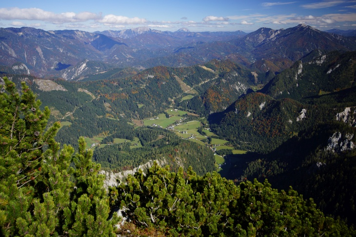 Ausblick vom Geiger über Hinterwildalpen